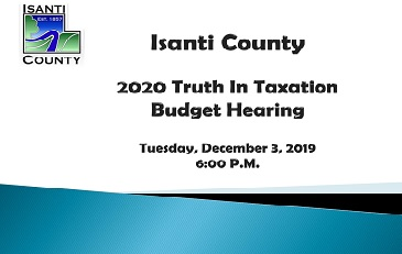 2020 Truth In Taxation Presentation Flyer