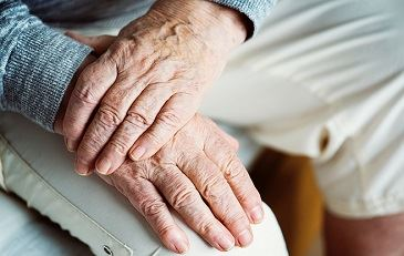 Two Elderly Hands Holding Each Other